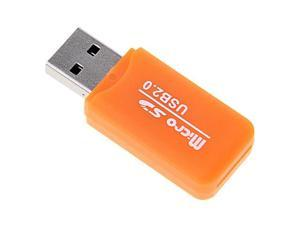 Orange 480 Mbps USB 2.0 Micro SD TF T-Flash Multi Memory Card Reader Adapter