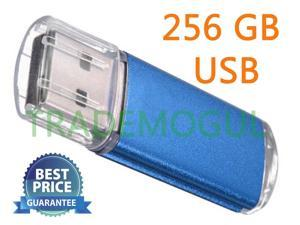 Sleek BLUE 256GB USB 2.0 Thumb Pen Flash Drive Memory Stick Storage