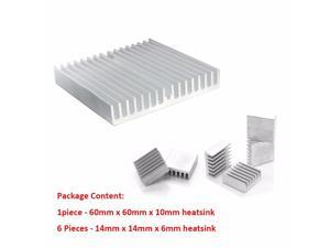 1Set/7pcs Aluminum Heat Sink Radiator Heatsink Cooler Kit for HDD Hard Disk Drive Heat Dissipation