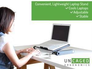 workez executive ergonomic adjustable foldable aluminum laptop u0026 tablet stand monitor riser