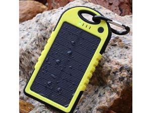 DUAL USB 5000MAH PORTABLE SHOCKPROOF WATERPROOF SOLAR BATTERY CHARGER