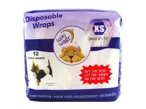 Wiki Wags® Male Dog Disposable Diaper Wraps Size: X-Small Pack