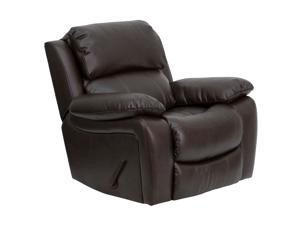 Brown Leather Rocker Recliner [MEN-DA3439-91-BRN-GG]