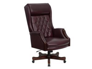 flash furniture high back traditional tufted burgundy leather executive office chair