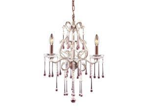 Elk Lighting Opulence 3 Light Chandelier in Rust and Rose Crystal - 4011-3RS