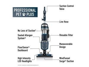 Hoover REACT Professional Pet Plus Upright Vacuum Cleaner, UH73220
