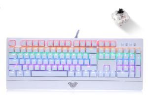 AULA Diamond Edition Wings of Liberty Mechanical Keyboard RGB Colorful Backlit Gaming Keyboard 104 Keys Black Switch Axis for Gamer Computer Desktop