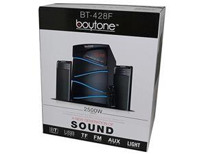 Boytone BT-428F, 2.1 Bluetooth Powerful Home Theater Speaker System, with FM Radio, SD USB ports, Digital Playback, 40 W