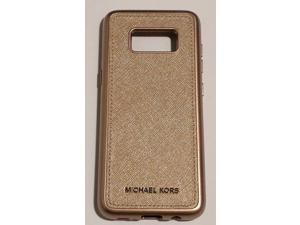 302ccfc6d7a1 Refurbished: Michael Kors Saffiano Leather Case for Samsung Galaxy S8  (ONLY) - Rose gold
