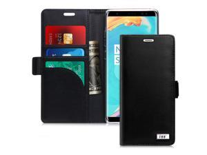 FYY [Genuine Leather] [RFID Blocking] Wallet Case for Samsung Galaxy Note 8 2017, Handmade Flip Folio Wallet Case with Kickstand and Card Slots for Samsung ...