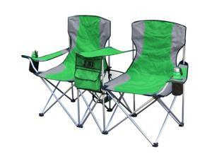 Giga Tent Travel Picnic Camping Side By Side Chair, GREEN