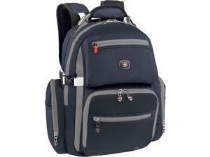 """Wenger Navy/Grey Breaker 16"""" / 41cm Deluxe Computer Backpack with Tablet/eReader Pocket Model 28058090"""