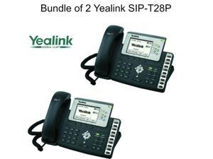 Yealink SIP-T28P Bundle of 2 Executive IP Phone 6 Line HD Voice PoE 320x160 LCD