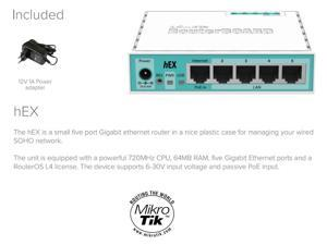 Mikrotik RB750Gr2, RouterBOARD 750Gr2 hEX 64MB Router 5 ports 10/100/1000 OSL4