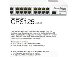 Mikrotik CRS125-24G-1S-IN Cloud Router Layer 3 Gigabit Switch 24 port 1xSFP OSL5