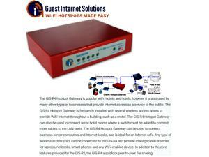 Guest Internet GIS-R4 Internet Hotspot Gateway up to 100 users 4 port switch
