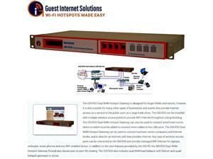 Guest Internet GIS-R20 Internet Quad Hotspot gateway up to 500 users dual WAN