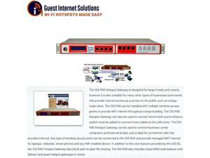 GIS-R40 Hotspot Internet Gateway for 1,000 Concurrent Users