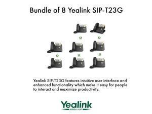 Yealink SIP-T23G,3 Lines HD Professional VoIP Phone,PoE,BUNDLE of 8