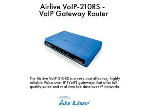 Airlive VoIP-210RS VoIP Gateway Router compatible with Cisco ATA-186