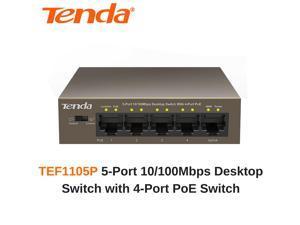 Tenda TEF1105P - 5-Port 10/100Mbps Desktop Switch with 4-Port PoE Switch