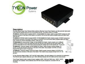 Tycon TP-SW5G-MULTI 12-56V 5 Port Multi-Volt Gigabit Passive PoE Switch