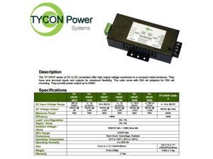 Tycon (TP-VRHP-1256) 10-15VDC Input, 56VDC 1.25A 70W Output Voltage Converter