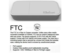 Mikrotik RBFTC11 FTC Fiber to Copper converter outdoor waterproof case
