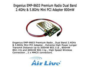 Engenius EMP-8603 Premium Radio Dual Band 2.4GHz & 5.8GHz Mini PCI Adapter 800mW