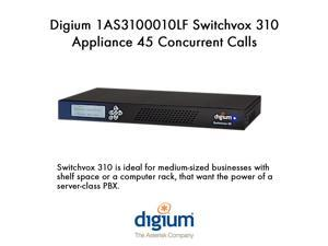 Digium 1AS3100010LF Switchvox 310 Appliance 45 Concurrent Calls 2 Telephony Card
