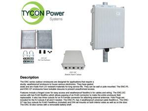 Tycon Power System ENC-DC-10x8x3 Die Cast Aluminum Outdoor Enclosure
