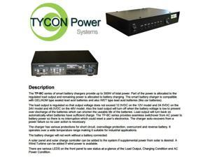 Tycon Power TP-BC24-300 - 24VDC 300W WET/GEL Smart Battery Charger 120/240VAC