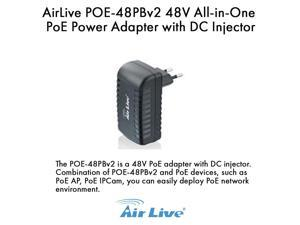 AirLive POE-48PBv2 48V All-in-One PoE Power Adapter with DC Injector
