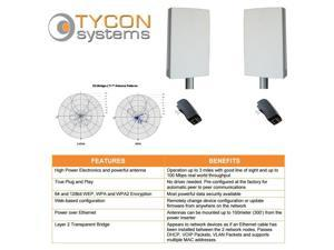 Tycon Systems EZBR-0516+ Point to Point Wireless Bridge Systems