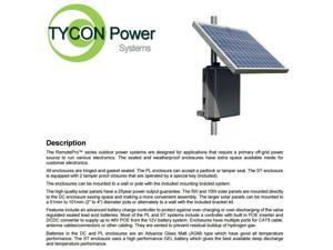 Tycon Power RPPL1248-36-30 RemotePro 8W Remote Power System 30W Solar Panel 12V