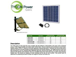 Tycon Power TPSK12-30W 12V 30W Solar Kit with Panel Pole Mount Controller Cable