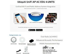 Ubiquiti UniFi AP AC EDU 4-UNITS UAP AC EDU 11ac Dual-Radio Access Point 3x3 PoE