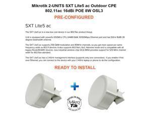 Mikrotik SXT Lite5 ac 2-UNITS READY TO INSTALL Outdoor CPE 11ac 16dBi POE OSL3