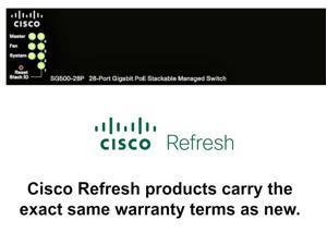 Cisco SG500-28P Refresh 28-Port Gigabit PoE+ Stackable L3 Managed Switch 4 SFP