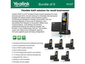 Yealink W52P Bundle of 6 SIP Cordless Phone IP DECT Phone Handset and Base Unit