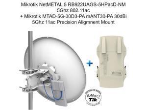 Mikrotik NetMETAL 5 RB922UAGS-5HPacD-NM 5Ghz 11ac + mANT30-PA 30dBi 5Ghz 11ac