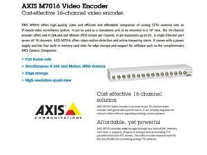 AXIS M7016 0541-004 easy-to-use 16 channels Video Encoder Smarter CCTV System