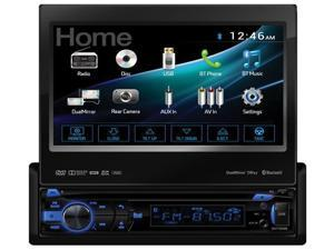 "Dual AV 7.0"" Motorized Touch Screen DVD BT 1A USB remote HDMI Android 2-way DV735MB"