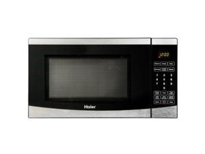 "Haier 0.7 Cu. Ft. 700 Watt Microwave - Single - 0.70 ft_ Main Oven - 10 Power Levels - 700 W Microwave Power - 9.65"" Turntable - Countertop - Stainless Steel"