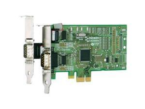 2-port PCI Express Serial Adapter  /2PORT PCIE 1+1XRS232 LOW PROFILE PX-101 1MBAUD PX-101