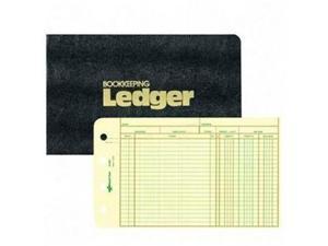Four-Ring Ledger Binder Kit 100 Ledger Sheets 8 1/2 x 5