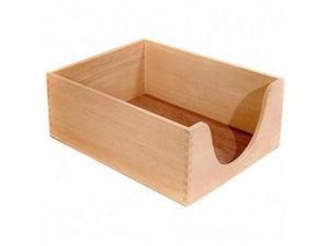 """Carver Hedberg Letter Size Double Deep Desk Tray x 5"""" Depth - 1 Tier(s) - Wood - Oak"""