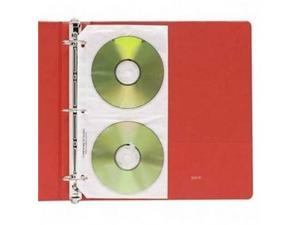 Deluxe CD Ring Binder Storage Pages Standard Stores 4 CDs 10/PK