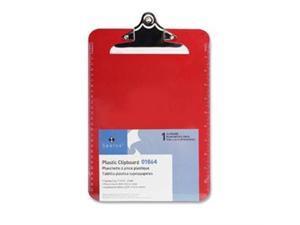 "Transparent Plastic Clipboard 9""x12"" Red"