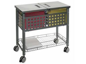 Smartworx File Cart One-Shelf 29 1/8w x 14d x 28 3/8h Matte Gray